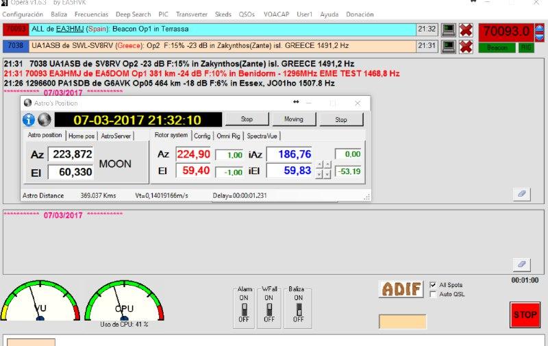 Opera over EME first decode in Op1 ea3hmj