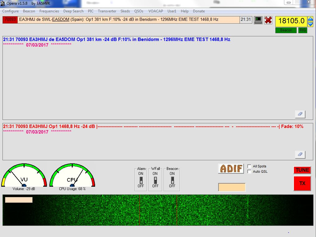 Opera over EME first decode in Op1